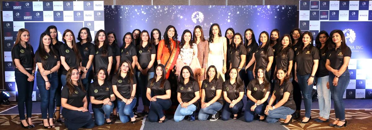 मिसेज इंडिया वर्ल्ड ने नॉर्थ जोन ऑडिशन से 30 क्वालिफायर्स का चयन किया- Mrs India Inc North Zone 30 Qualifiers with the Judges and Founder at Crowne Plaze