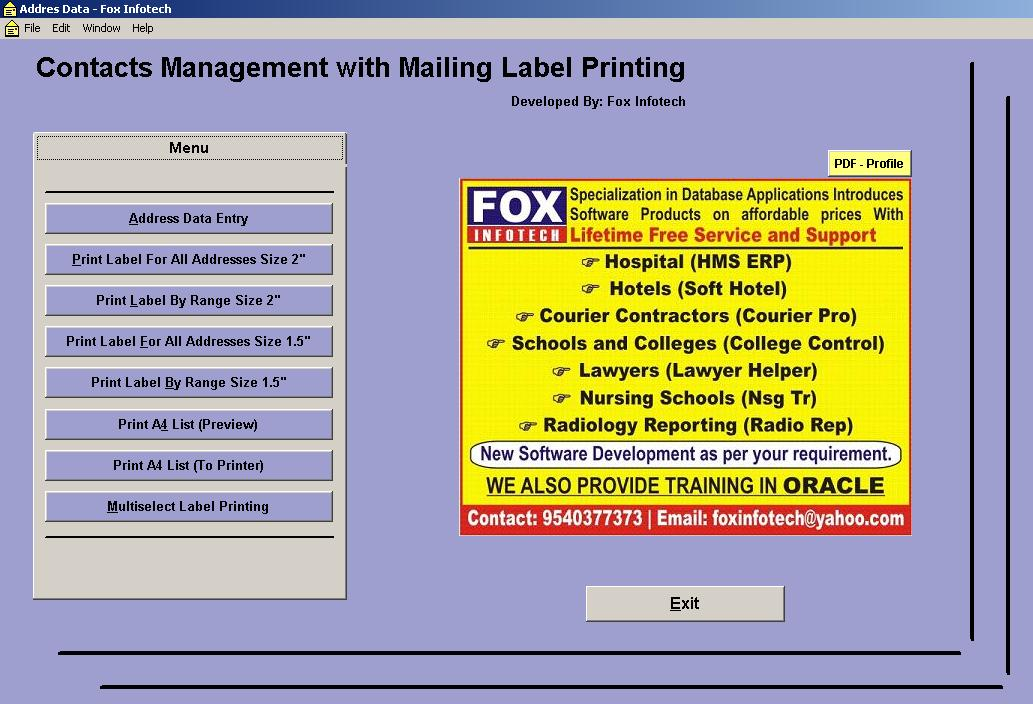 Contact Management Software With Mailing Label Printing