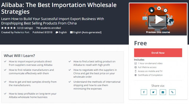 [100% Free] Alibaba: The Best Importation Wholesale Strategies