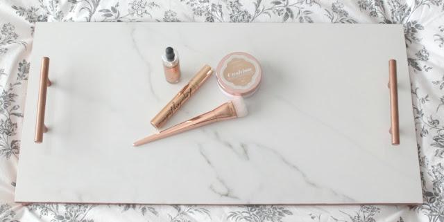 marble copper tray diy