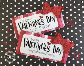 Valentine's Day Glitter Bow Candy Bar Wrappers