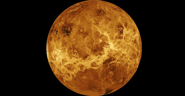 A global view of Venus created from Magellan data and a computer-simulated globe. Image Credit: NASA/JPL-Caltech