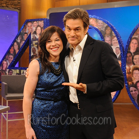 Katie with Dr. Oz