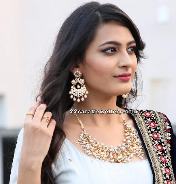 Swetha Jadhav Pachi Work Choker