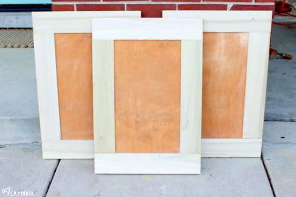 The newly reframed doors are ready for paint!