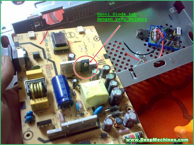 Penyebab Kerusakan Korslet Monitor LCD Compaq CQ1569
