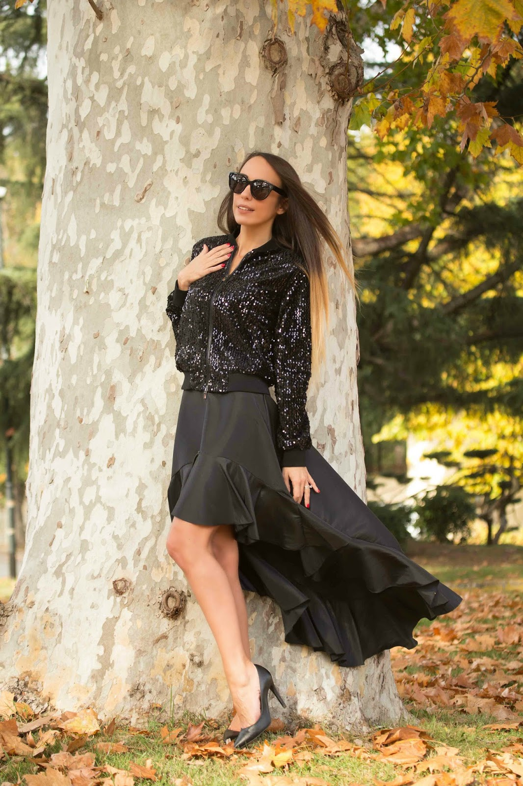 total black mix di materiali