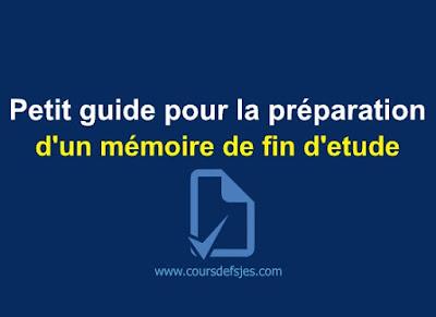 mémoire de fin d étude pdf