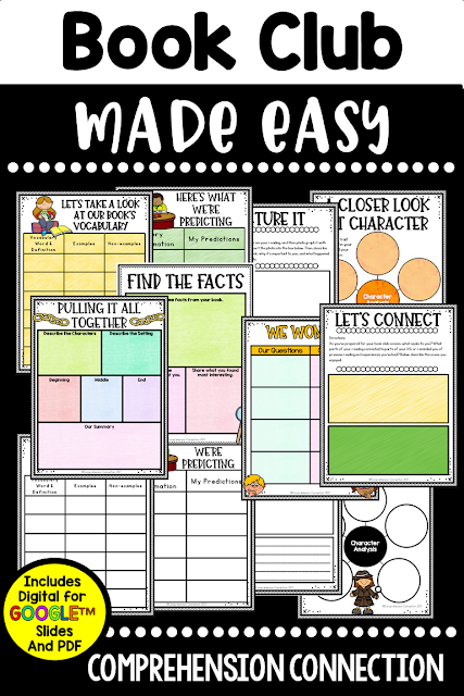 Book Clubs are fun for students. Kids love to chat about their reading, and yet, we have to make sure that time is purposeful and focused. Check out this versatile resource that offers both digital and printable options for one price. You can even use these with your guided reading groups too.