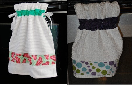 Homemade Idea: Hanging Kitchen Towels