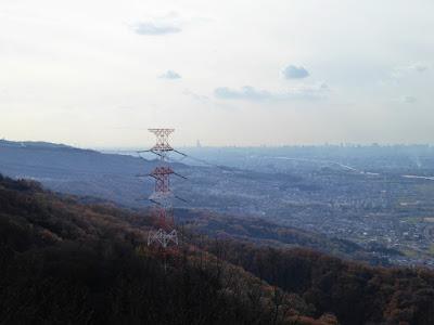 交野山 頂上からの眺め あべのハルカス