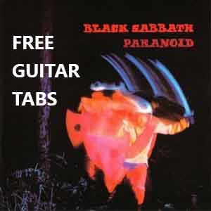 "Black Sabbath ""Paranoid"" .Paranoid Tab by Black Sabbath.Paranoid Tab Solo .Free Tabs & Sheet Music(Guitar Lessons) Free Online Guitar Lessons"