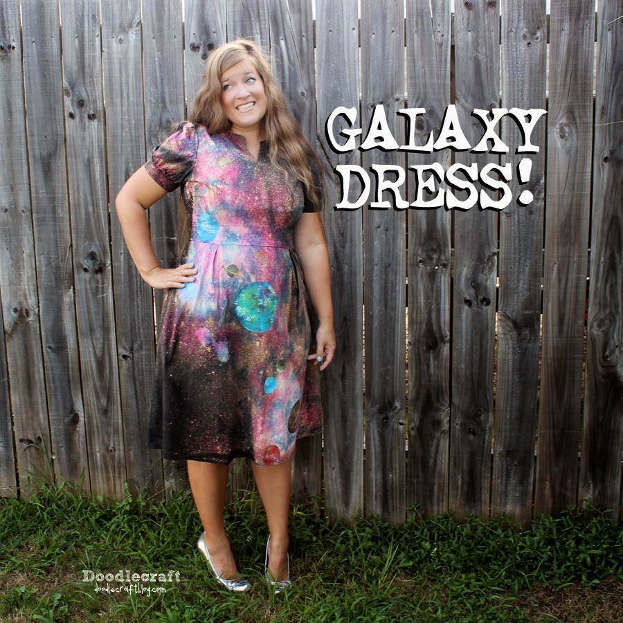 tie dye and painted black galaxy dress geek chic diy