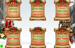 Visit Treasure Mile Casino Christmas Calendar