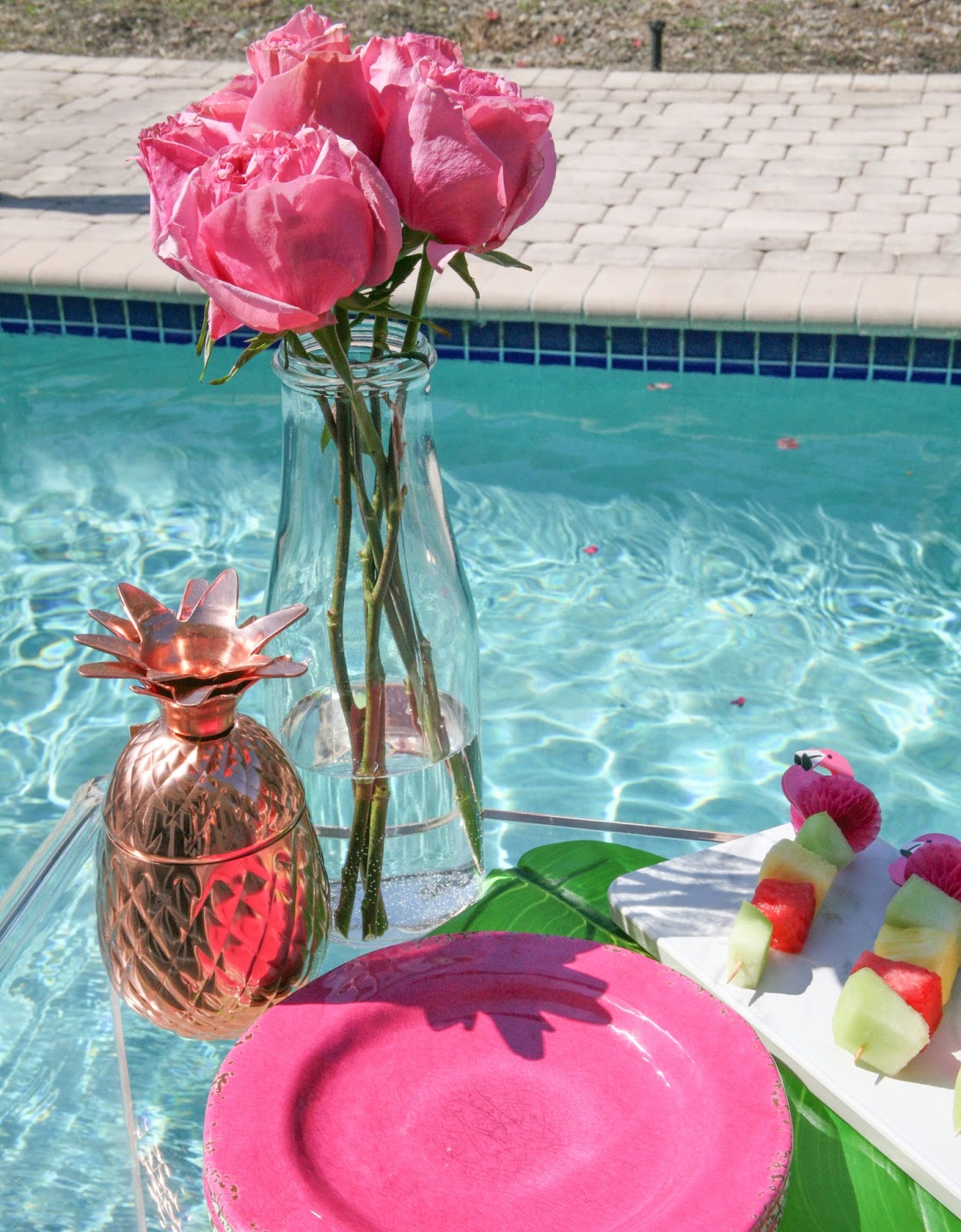 Summer Flamingo Pool Party Bar With Pier 1 Celebration