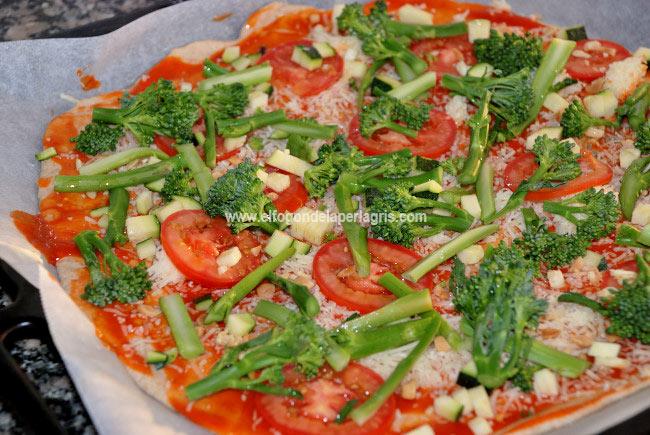 Pizza de bimi casera