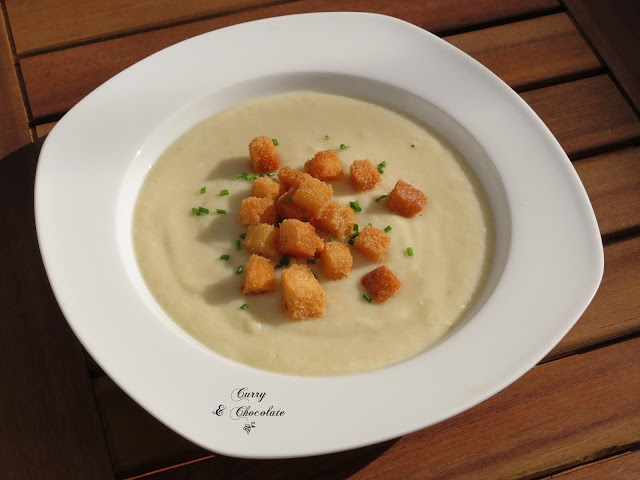Crema de coliflor (sin lactosa) – Cream of cauliflower soup