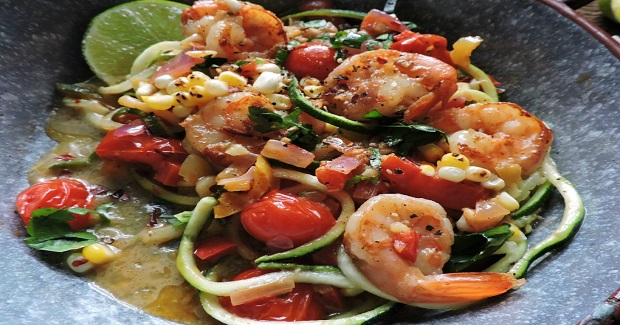 Spicy Shrimp And Zucchini Noodles Recipe