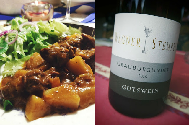 Grauburgunder und Gulasch