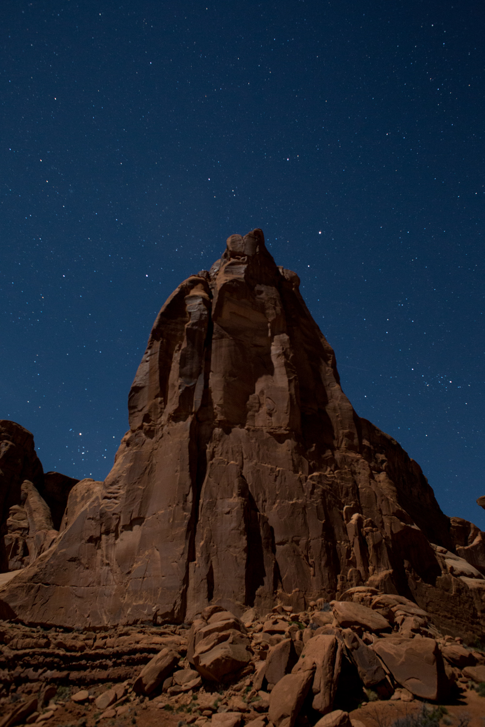 Star Night Shot Arches National Park