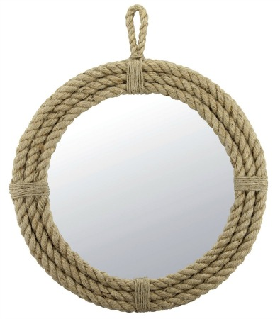 Round Rope Wrapped Mirror