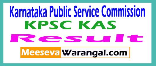 KPSC KAS Results 2017