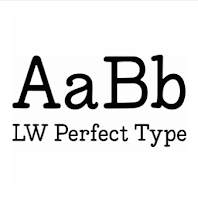 LW perfect Type font by Lori Whitlock