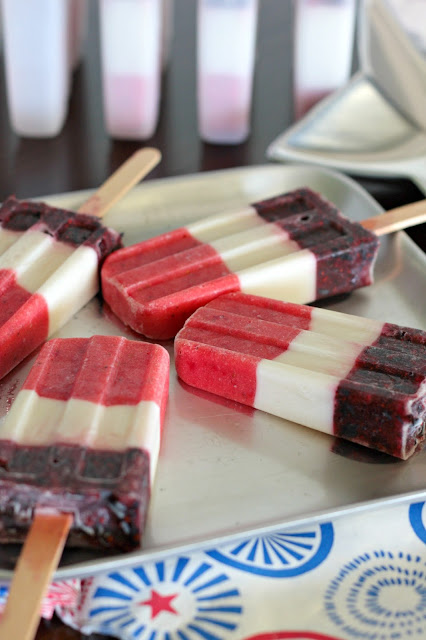popsicles fourth of july red white blue