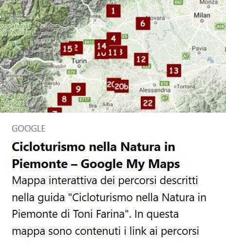 Mappa Cicloturismo Nella Natura in Piemonte