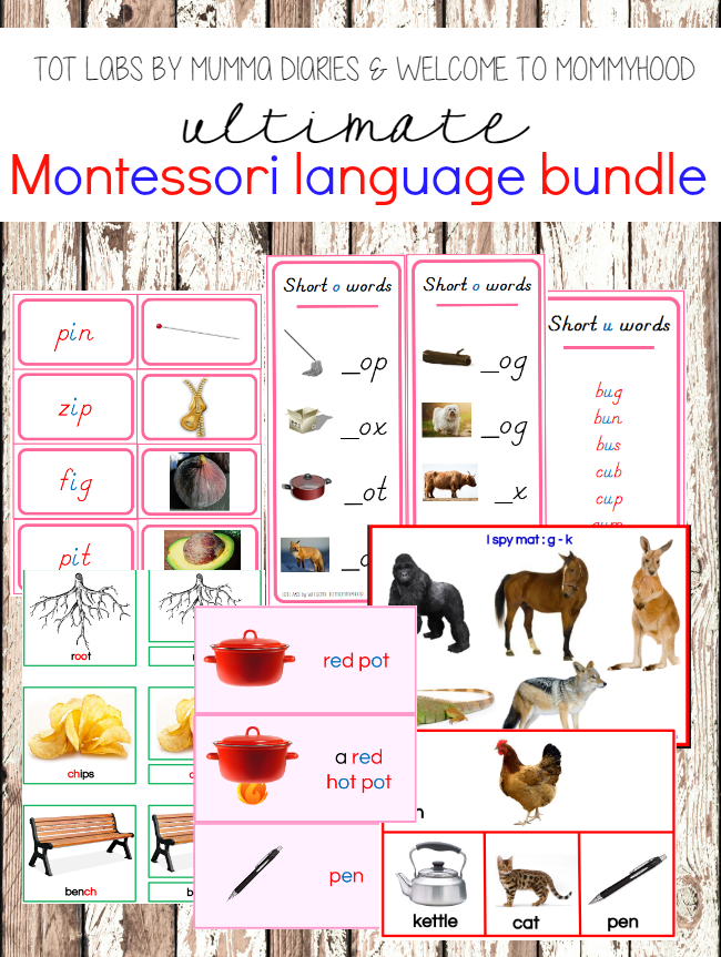 Tot Labs Presents: The Ultimate Montessori Language Resource #montessori, #Preschool, #preschoolactivities, #totlabs, #homeschool, #kindergarten, #language