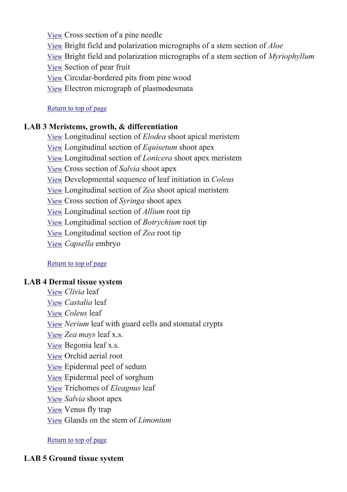 Alison Roberts 2002 Plant Anatomy Bio311 Plant Books