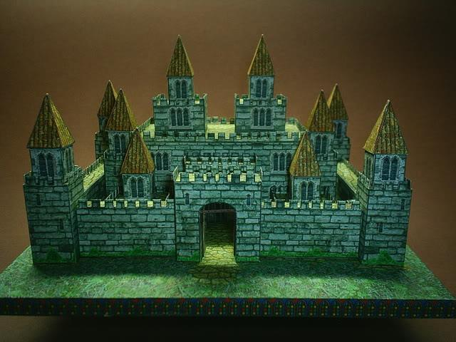 Papermau desktop medieval castle paper model by Design a castle online