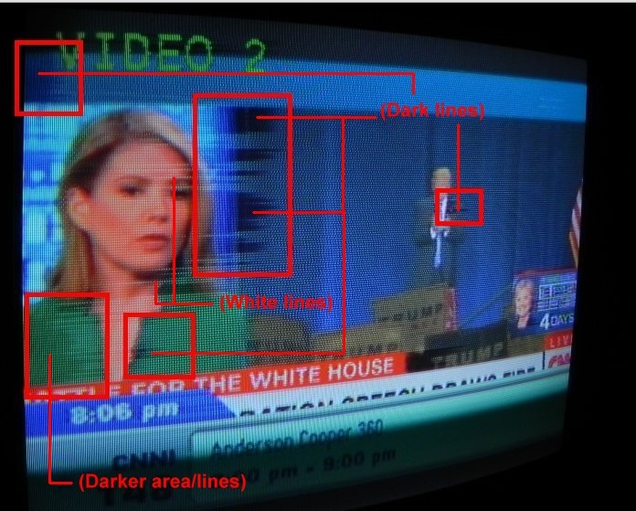 how to fix dark spots on lcd tv