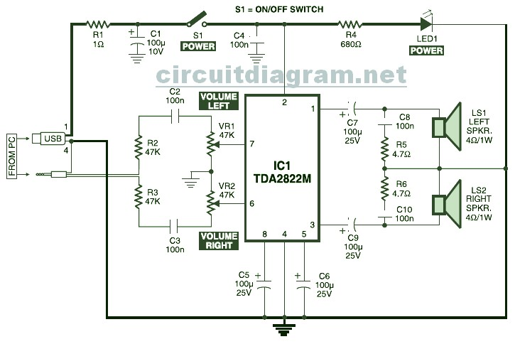 Battery Operated Mini Night Lamp Electronic Circuits And Diagram