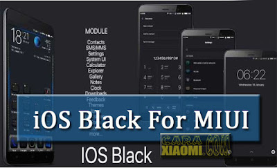 MIUI Theme iOS Black V8 Mtz For Xiaomi Update Linkq