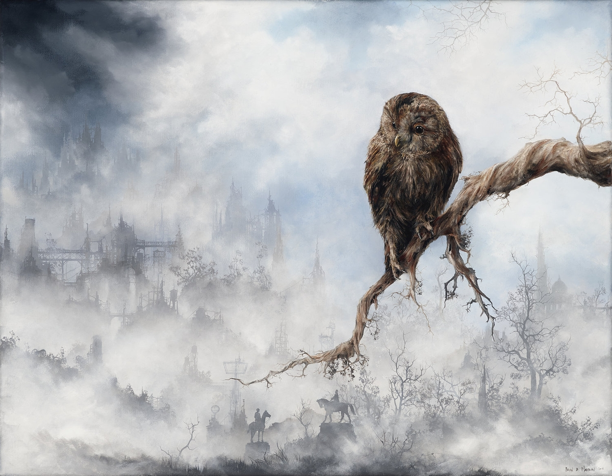 11-Tawny-Owl-Brian-Mashburn-Architecture-in-Paintings-of-Urban-and-Industrial-Landscapes-www-designstack-co