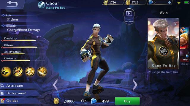 Build dan Guide Menggunakan Hero Chou Mobile Legends Malaysia - Sofinah Lamudin