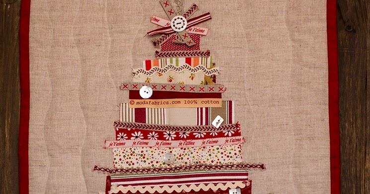 Con hilo y aguja c mo hacer un rbol de navidad con restos - Cintas arbol navidad ...