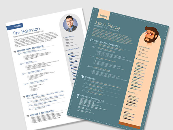 Free Resume (CV) Templates in PSD, Ai, InDesign, PDF & Word Format