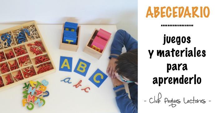 abecedario, juegos y materiales para aprenderlo
