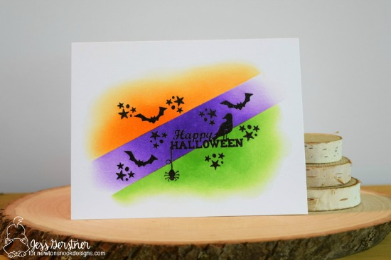 Happy Halloween Card by Jess Gerstner | Spooky Street Stamp set by Newton's Nook Designs #newtonsnook