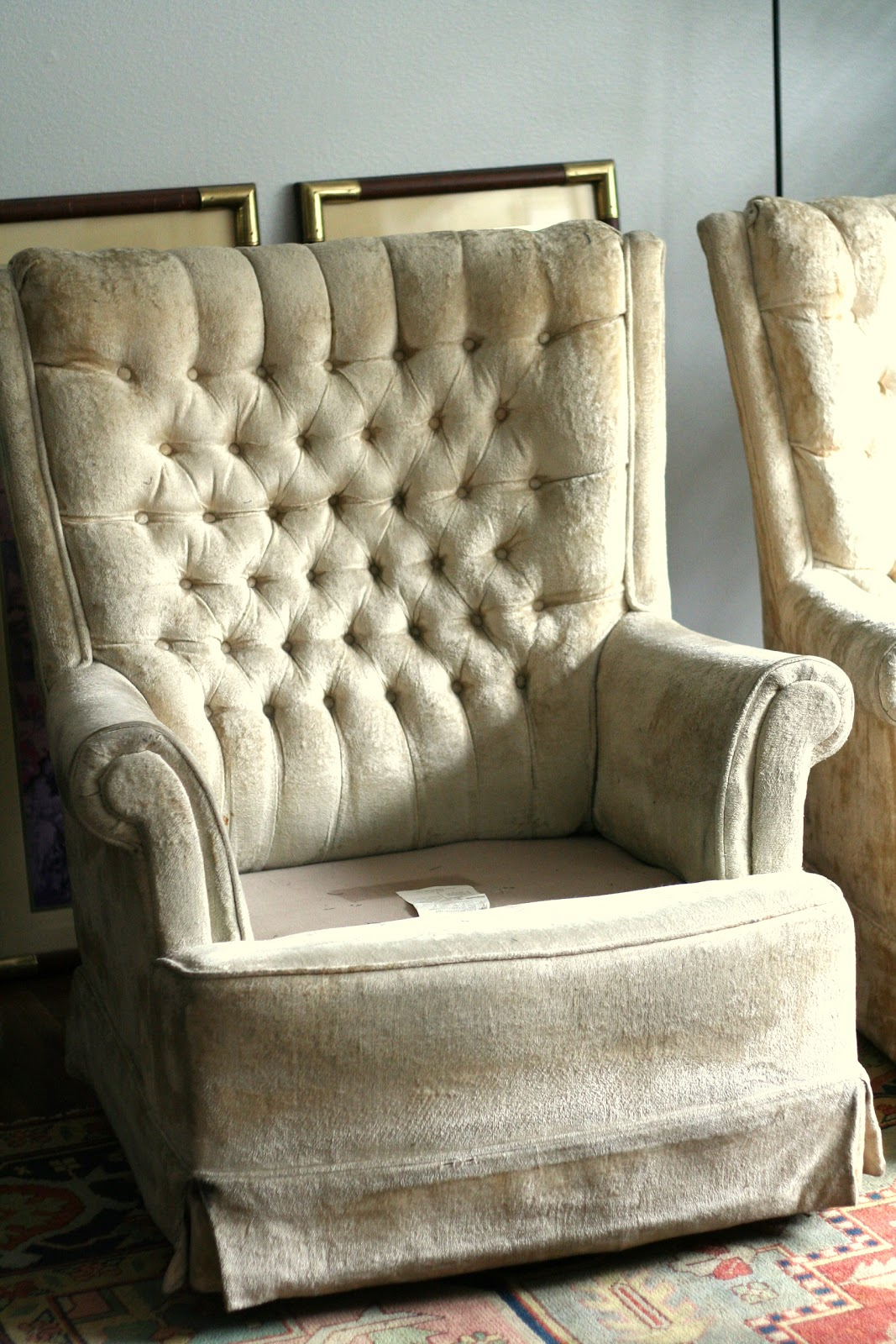Blue Paisley Swivel Rocker Chairs