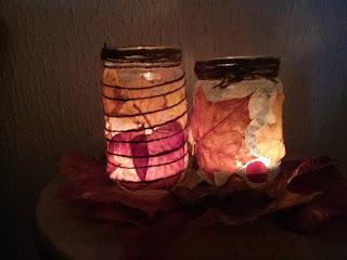 Házilag készített mécsestartók őszre