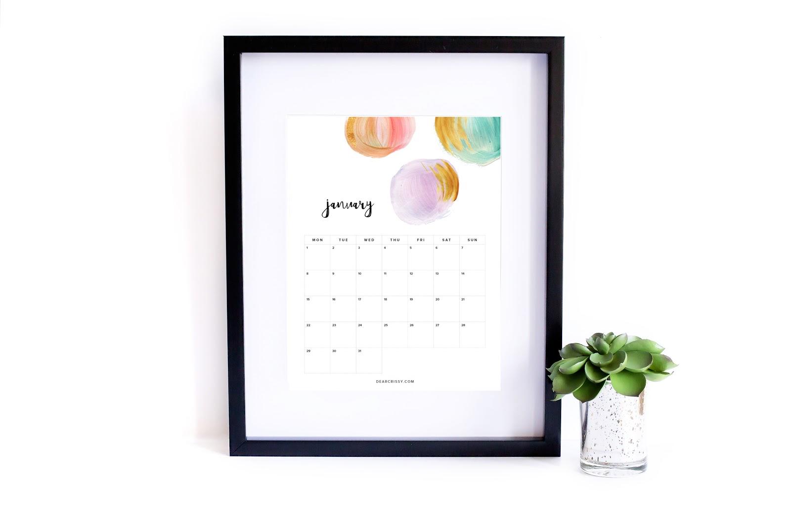 kalendarz 2018 do druku - planer