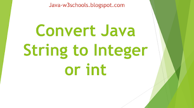 Convert Java String to Integer or int