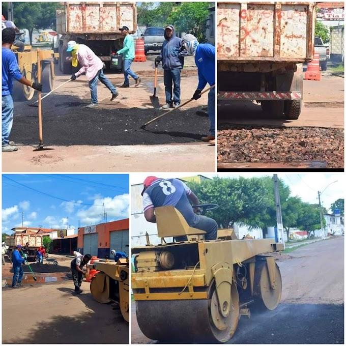 Prefeitura de Chapadinha realiza operação tapa buracos