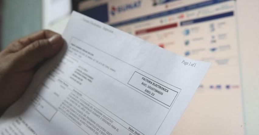 SUNAT modifica procedimiento para imprimir facturas y boletas físicas - www.sunat.gob.pe