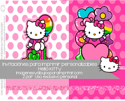 Invitaciones de hello kitty para imprimir