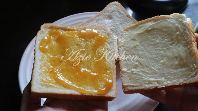 Roti Mentega Kaya Telur Yang Sangat Mudah dan Sedap