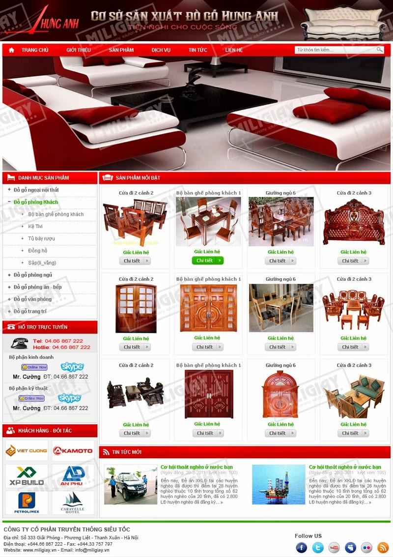 dịch vụ thiết kế website bán hàng thủ công mỹ nghệ